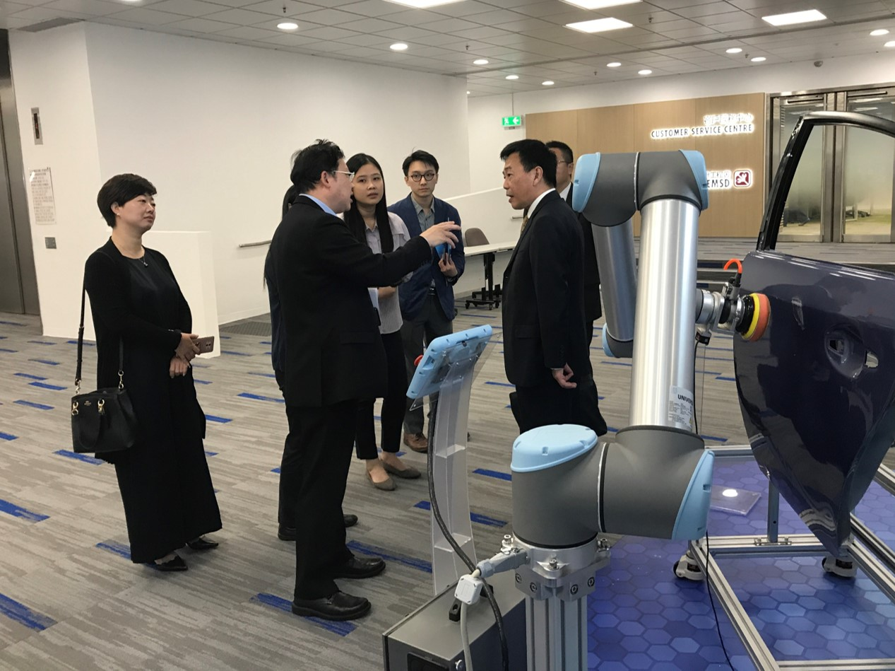 10 October 2018 - Representatives from the GuangDong Science Academy visited the EMSD's E&M InnoZone