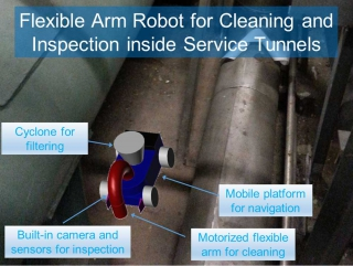 Flexible Arm Robot for Cleaning and Inspecting E&M Installations (MATCHED with I&T Wish W-0005)