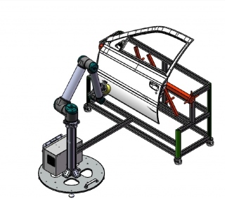 Easy Operating Robotic Arm for Car Surface Treatment